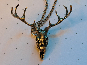 Spirit of the Deer Pendant in Antique Silver