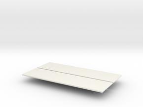 V1-C1 Sliders  in White Natural Versatile Plastic