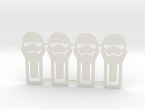 Paper clips stormtrooper in White Natural Versatile Plastic