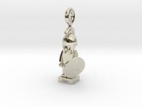 Minifig Spartan in Premium Silver