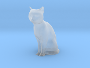1/24 Sitting Cat in Smooth Fine Detail Plastic