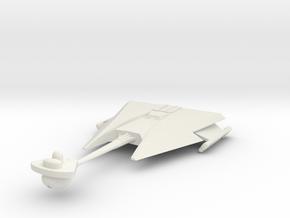 2500 Klingon D-10 class in White Natural Versatile Plastic