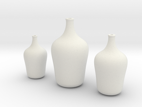 Floor Vases Set of 3 in White Natural Versatile Plastic