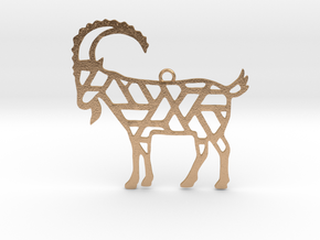 Year Of The Goat Charm in Natural Bronze