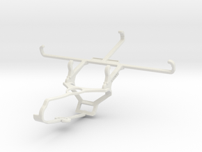 Controller mount for Steam & Sharp Aquos V - Front in White Natural Versatile Plastic