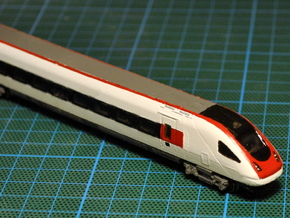 SBB RADBe 500 ICN Carriage 1 in Smooth Fine Detail Plastic: 1:160 - N