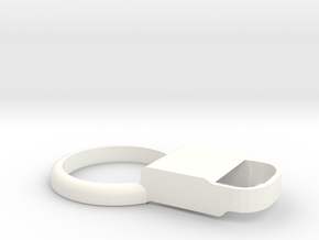 Kiwi 2 – Shell for MiaoMiao2 (Libre): NO Armband!  in White Processed Versatile Plastic