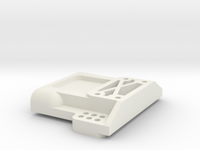 TRAXXAS TRX1 REAR BULKHEAD in White Natural Versatile Plastic