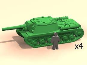 6mm SU-152 self propelled guns in Smoothest Fine Detail Plastic