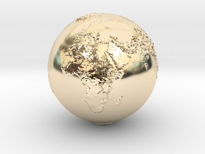 Earth Relief Hollow in 14K Yellow Gold