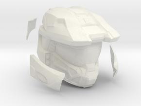 Halo MKV  1/6 scale threea testpiece. Helmet in White Natural Versatile Plastic