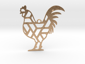 Year Of The Rooster Charm in Natural Bronze