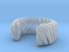 PILLOW CARVED TIGER CUFF MEDIUM in Smooth Fine Detail Plastic