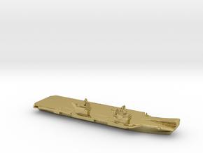 Queen Elizabeth-class aircraft carrier, 1/3000 in Natural Brass