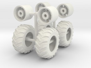 1/64th Farm float tires for Nuhn Manure Agitator in White Natural Versatile Plastic