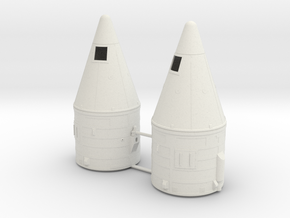 1/72 SRB Tops (No Motors) in White Natural Versatile Plastic