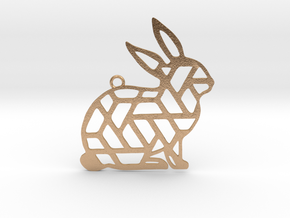 Year Of The Rabbit Charm in Natural Bronze