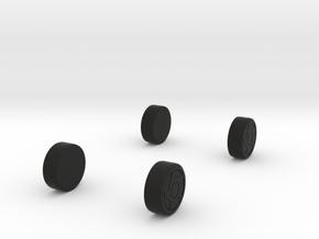 DaytonaConcept_wheels in Black Natural Versatile Plastic