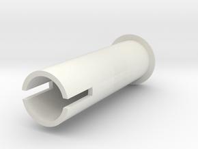P51 crank handle axle in White Natural Versatile Plastic