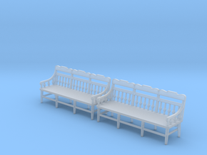 Wood Bench 03. 1:43 Scale in Smooth Fine Detail Plastic