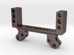 Metal Servo On Axle Adapter V1.1 Element Enduro  in Polished Bronzed-Silver Steel