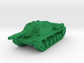 15mm SU-152 assault gun in Green Processed Versatile Plastic