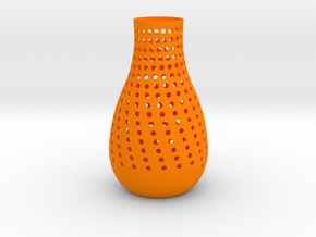 vase in Orange Processed Versatile Plastic