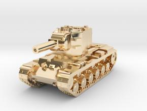 15mm KV-2 tank in 14K Yellow Gold