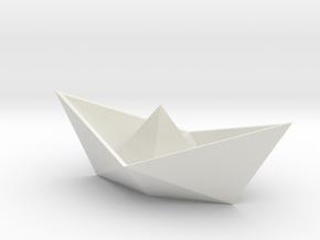 Origami boat in White Natural Versatile Plastic