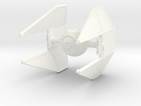 SciFi Empire Interceptor in White Processed Versatile Plastic