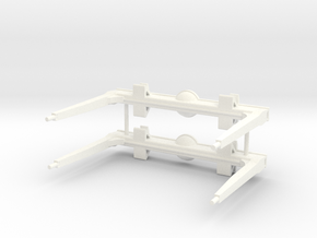 1/32 scale Long Logger Bunk set, Gun barrel top in White Processed Versatile Plastic