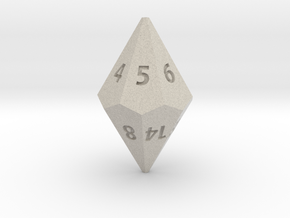 D14 dice in Natural Sandstone