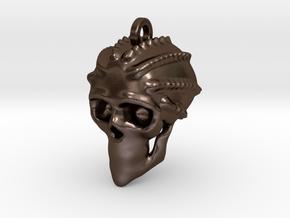 Crudd Skull Keychain/Pendant in Polished Bronze Steel