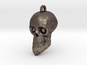 Morgan's Skull Keychain/Pendant in Polished Bronzed-Silver Steel