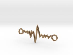 Heart Beat Pendant in Natural Brass