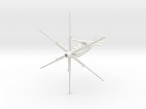 (1:144) Theodor Laufer's VE-RO (Horizontal mode) in White Natural Versatile Plastic