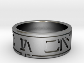 Star Wars ring - Aurebesh - 7.5 (US) / 56 (ISO) in Polished Silver