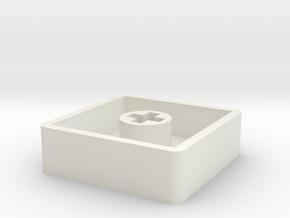 Low profile cherry mx keycap in White Natural Versatile Plastic