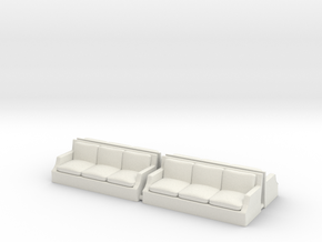Arm Sofa Ver01. 1:87 Scale (HO) in Smooth Fine Detail Plastic