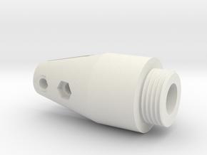 HFP-101111 Throttle handle Bottom in White Natural Versatile Plastic