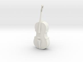 Printle Thing Cello - 1/24 in White Natural Versatile Plastic