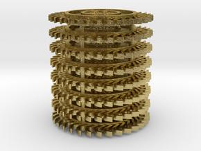 1/64 scale Hay Rake wheel x 8 pcs in Natural Brass