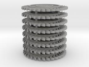 1/64 scale Hay Rake wheel x 8 pcs in Aluminum