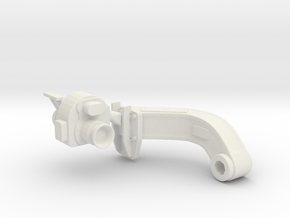 1/5 DKM 3.7cm Flak M42 Single Mount (Sight L) in White Natural Versatile Plastic
