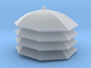 1/72 Umbrella X 4  in Smooth Fine Detail Plastic