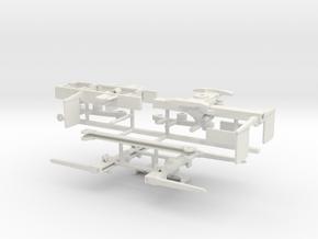 1/50th Self Loading Log Trailer gun barrel bunks in White Natural Versatile Plastic