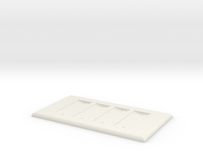 Philips Hue Quad Dimmer Plate 4 Gang in White Natural Versatile Plastic