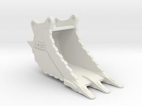 Ausbruchlöffel  / cut-off bucket OQ80 in White Natural Versatile Plastic: 1:50