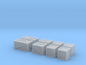 'N Scale' - Assorted Crates in Smooth Fine Detail Plastic
