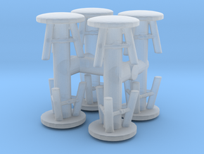 Stool (x8) 1/100 in Smooth Fine Detail Plastic